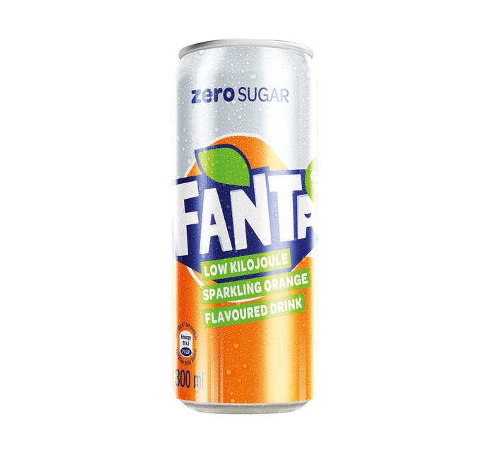 FANTA ORANGE ZERO CAN 300ML